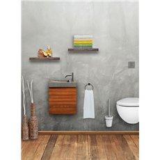 Differnz Fonteinset Java 40cm  - Teak meubel - Grijze wastafel