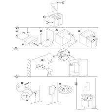 Differnz Badmeubel Flow - Knock-Down - 60cm - Grijs Eiken