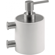 PIET BOON PB503 zeepdispenser wand mat RVS/wit corian
