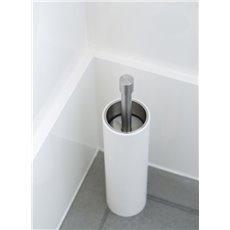 PIET BOON PB302 toiletborstel staand RVS/wit corian