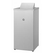 Qbic-line afvalbak gesloten 30l RVS QWBC30 SSL