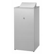 Qbic-line afvalbak gesloten 85l RVS QWBC85 SSL