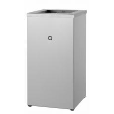 Qbic-line afvalbak open 30l RVS QWBO30 SSL
