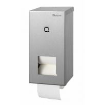 Qbic-line toiletrolhouder 2-rols voor doprollen RVS QTR2 SSL
