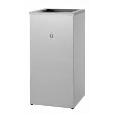 Qbic-line afvalbak open 85l RVS QWBO85 SSl