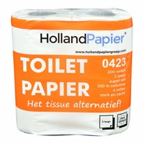 HollandPapier toiletpapier traditioneel cellulose 2 laags 200 vel