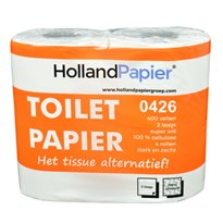 HollandPapier toiletpapier traditioneel cellulose 2 laags 400 vel