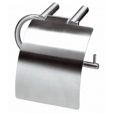 WC-rolhouder met verlengde klep RVS