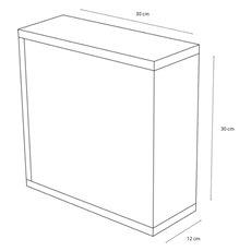 Differnz Spiegelkast Quadro 30x30x12 Wit