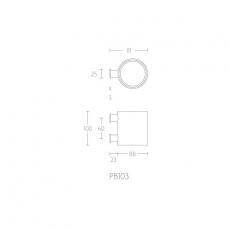 PIET BOON PB103 tandenborstelhouder wand mat RVS/wit corian