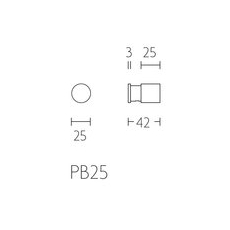 PIET BOON PB25 set van 2 haken 25mm mat zwart