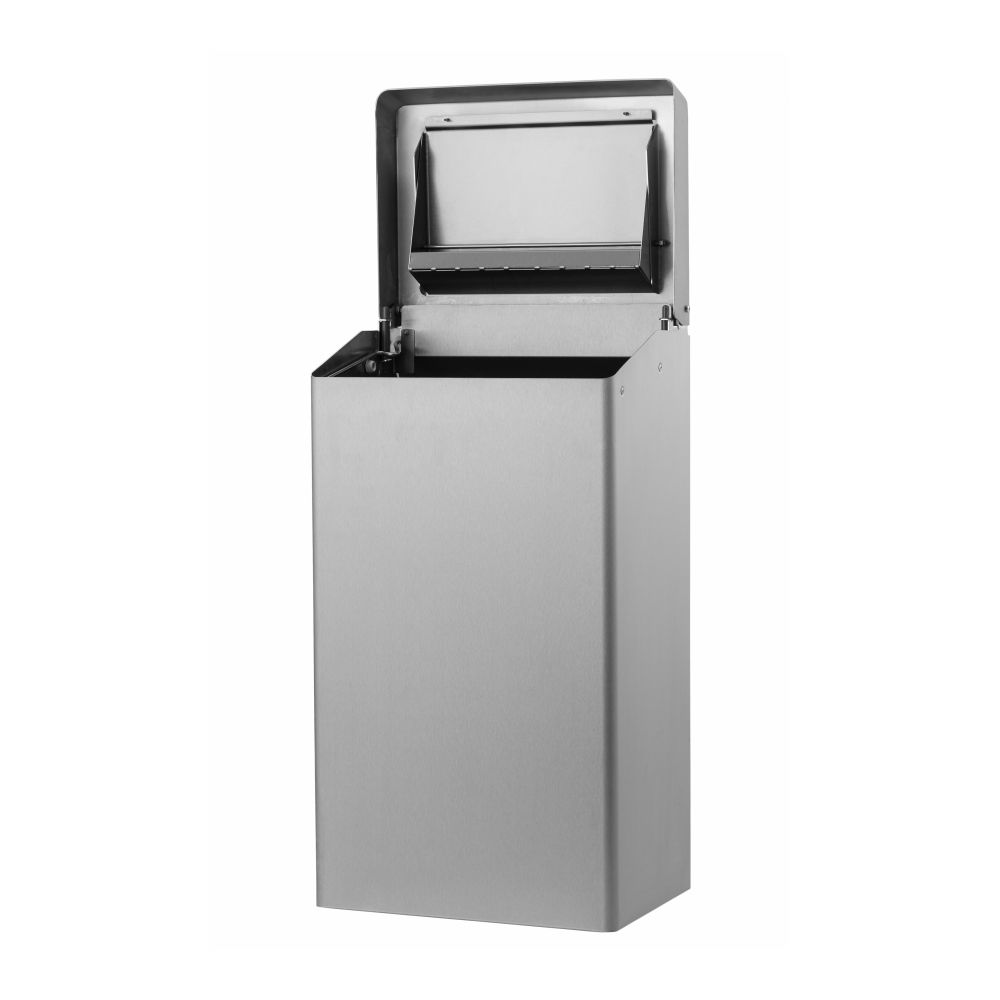 Basic afvalbak RVS anti-fingerprint 50l Dutch Bins ACSB50E