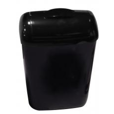 PlastiQline Exclusive hygiënebak 8 liter kunststof zwart PQXH8