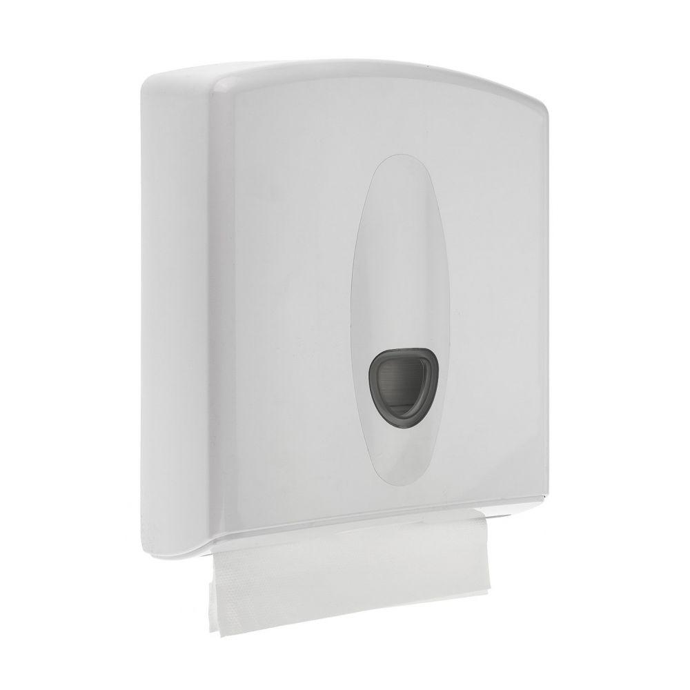 PlastiQline 2020 kunststof handdoekdispenser wit - PQ20MidiH