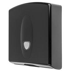 PlastiQline 2020 kunststof handdoekdispenser zwart - PQB20MidiH