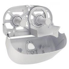 PlastiQline 2020 kunststof 2-rols toiletrolhouder wit - PQ20Duo