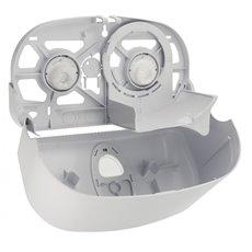 PlastiQline 2020 kunststof 2-rols toiletrolhouder (doprollen) zwart - PQB20SDuo