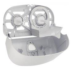 PlastiQline 2020 kunststof 2-rols toiletrolhouder (kokerloos) wit - PQ20CDuo