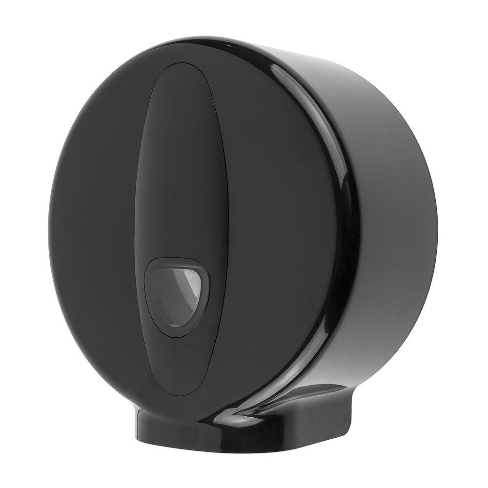 PlastiQline 2020 kunststof jumboroldispenser mini zwart - PQ20MiniJ