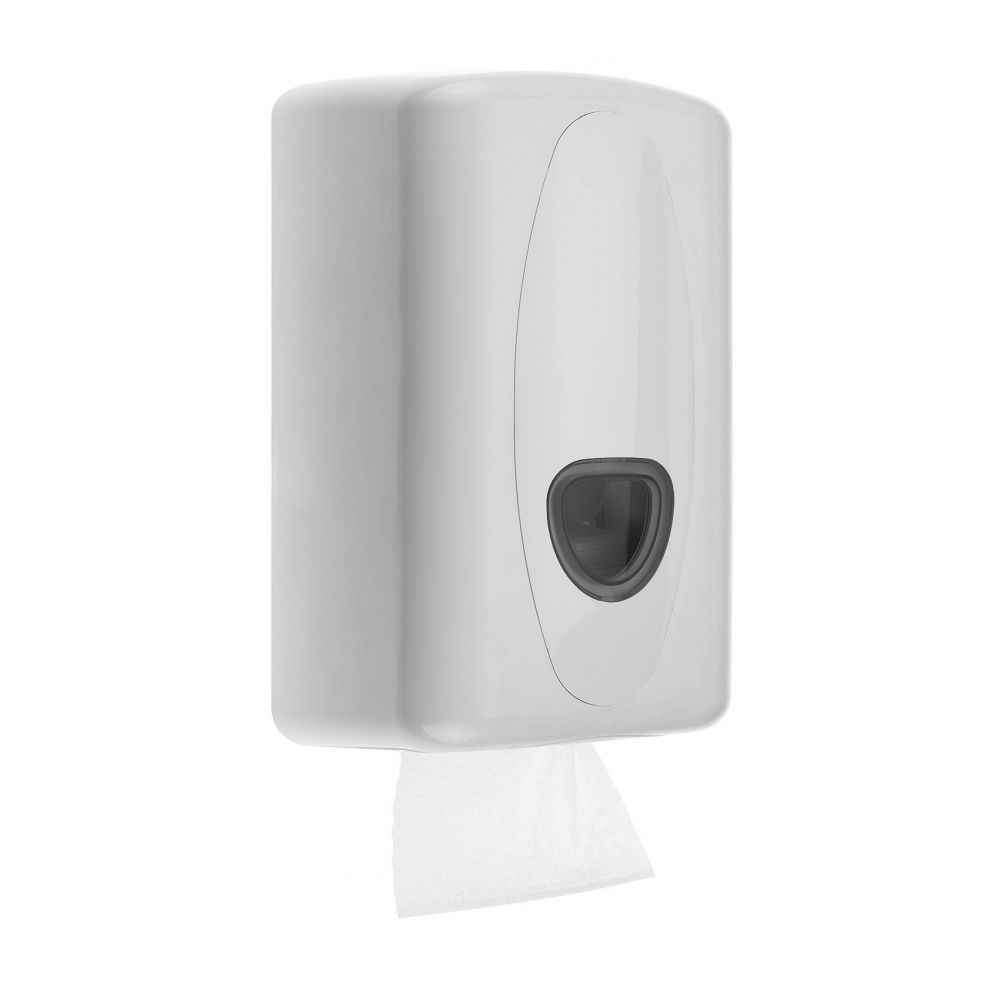 PlastiQline 2020 kunststof toilet tissue dispenser wit - PQ20Tissue