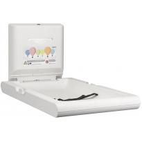 Mediclinics babyverschoontafel verticaal wit CP0016V