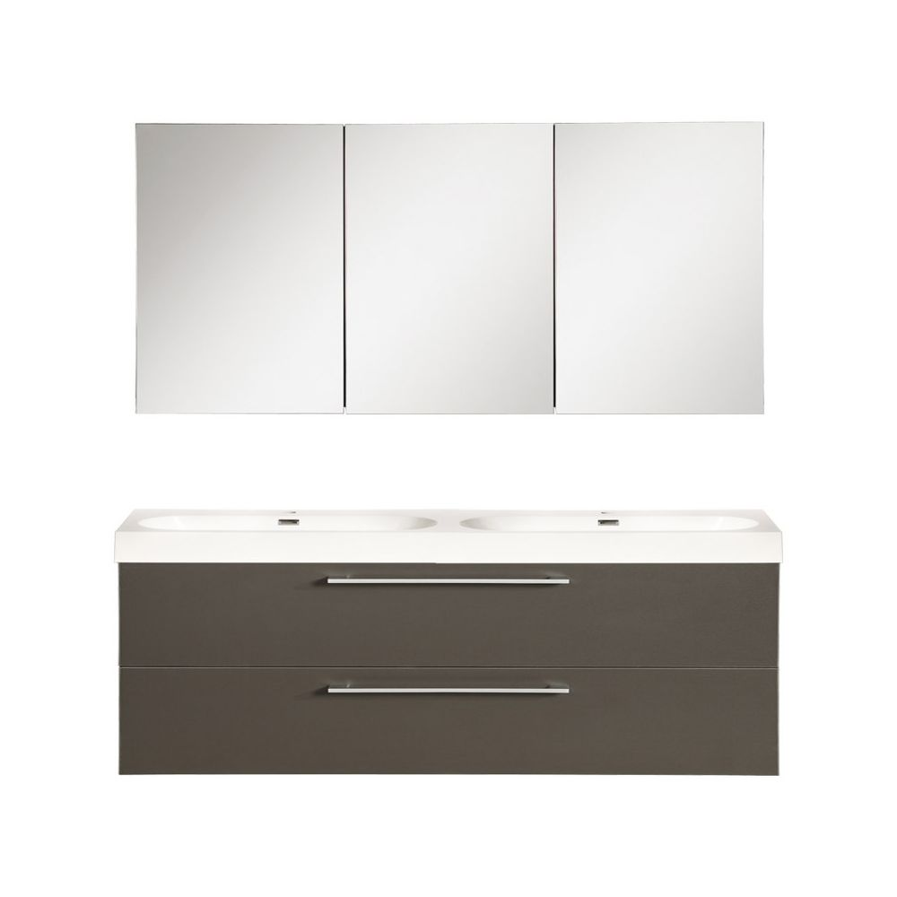 The Collection Shallow Badmeubelset 120cm - antraciet