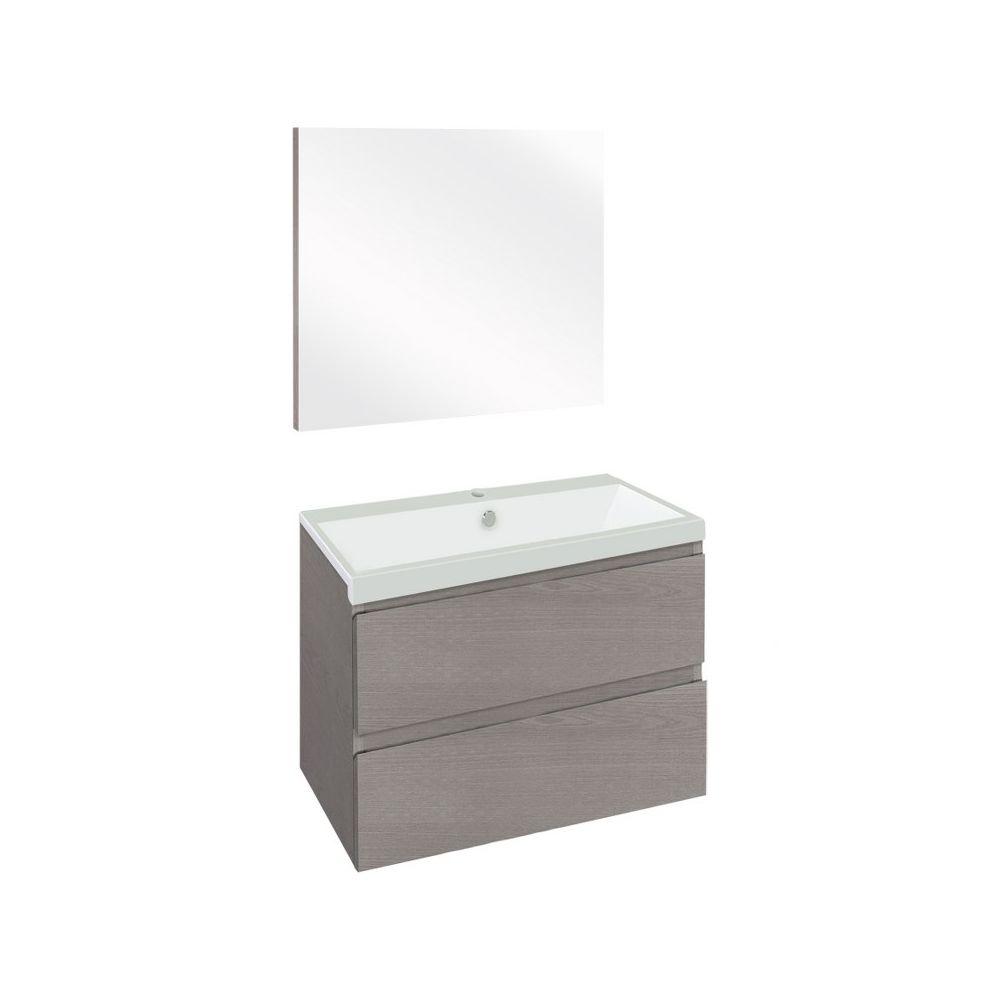 The Collection Concept Badmeubelset met spiegel 60cm - Grijs/Wit
