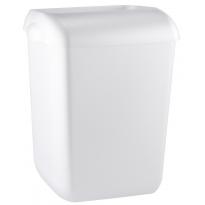 PlastiQline afvalbak semi-open wit 55l PQA55