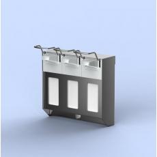 MediQo-line trio zeepdispenser RVS 500ml + afsluitplaten MQTV05E
