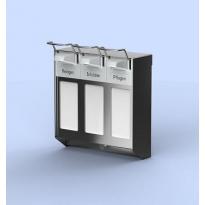 MediQo-line trio zeepdispenser RVS 1000ml + afsluitplaten MQTV10E