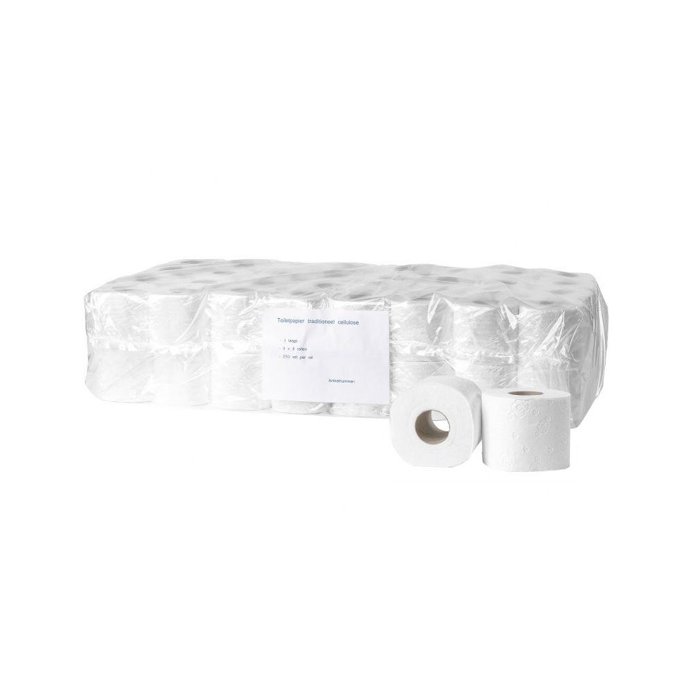 Toiletpapier cellulose 3 laags 250 vel