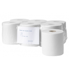 Poetsrol midi recycled tissue 1 laags