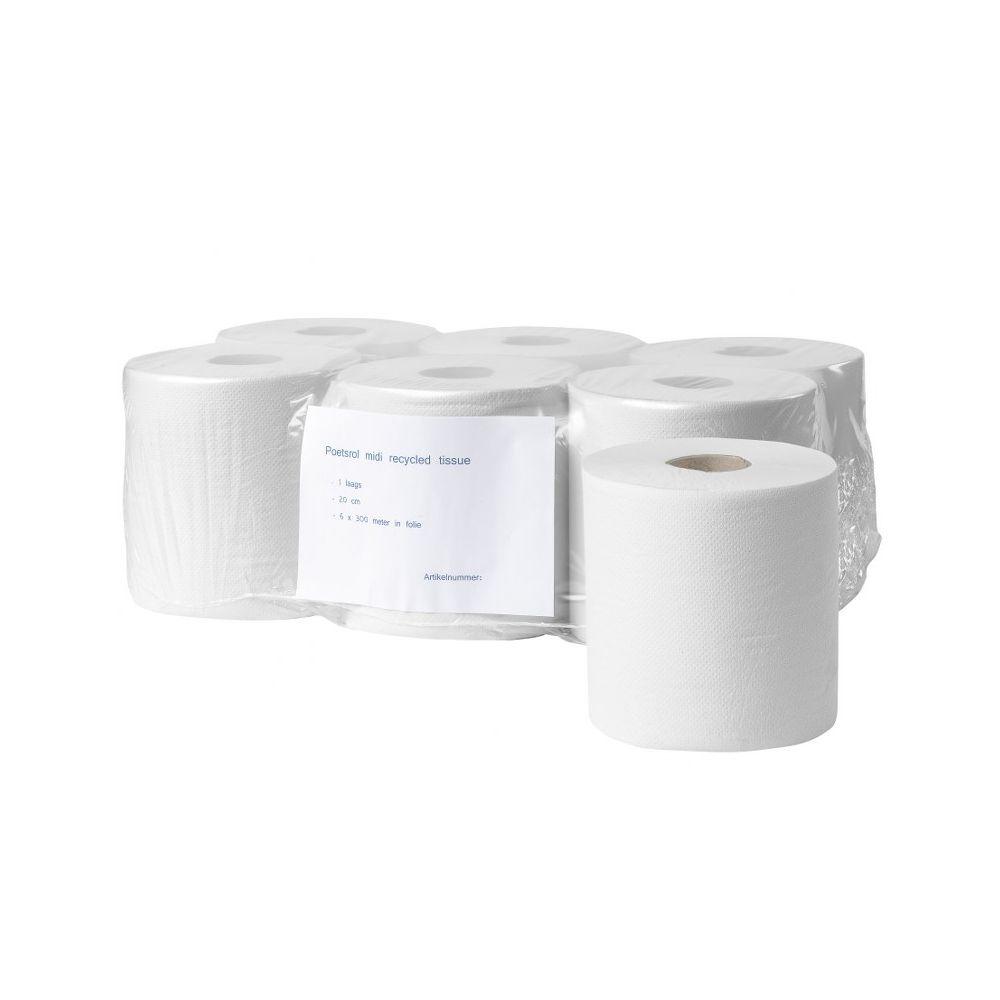 Poetsrol midi recycled tissue 1 laags
