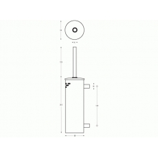 WC-borstelset kokermodel wandmontage RVS
