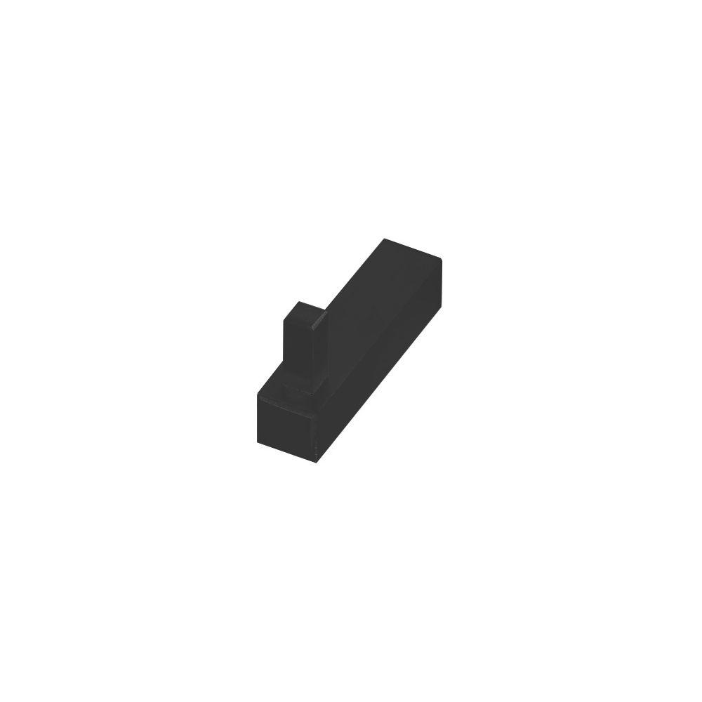 Tupai handdoekhaakje Square - zwart