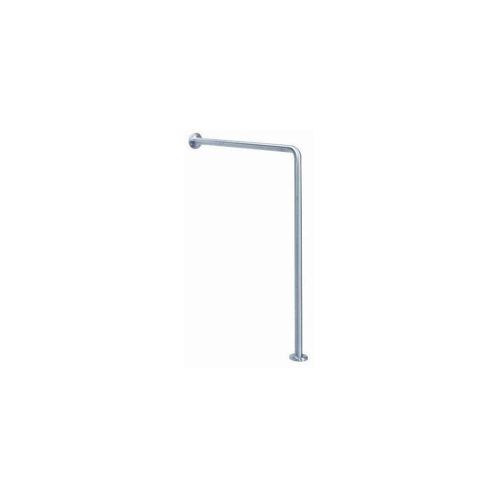 MediQo-line angled bar wall-floor RVS BS0010CS