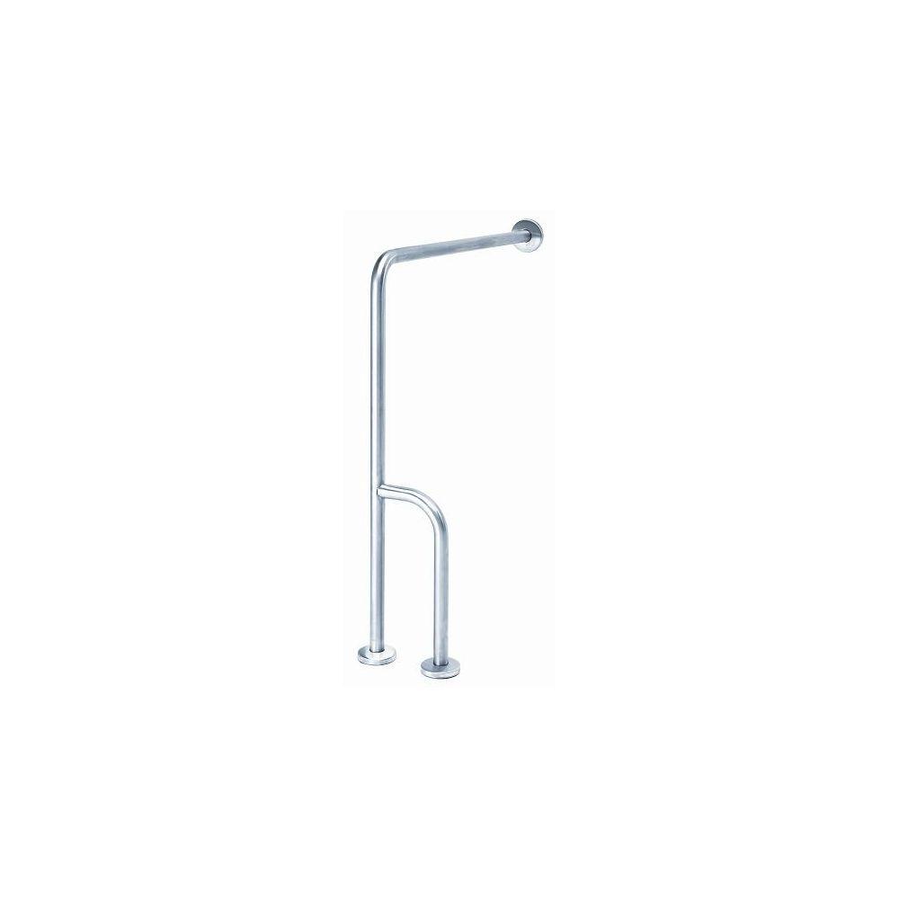 MediQo-line left-angled bar wall-floor RVS BSD020CS