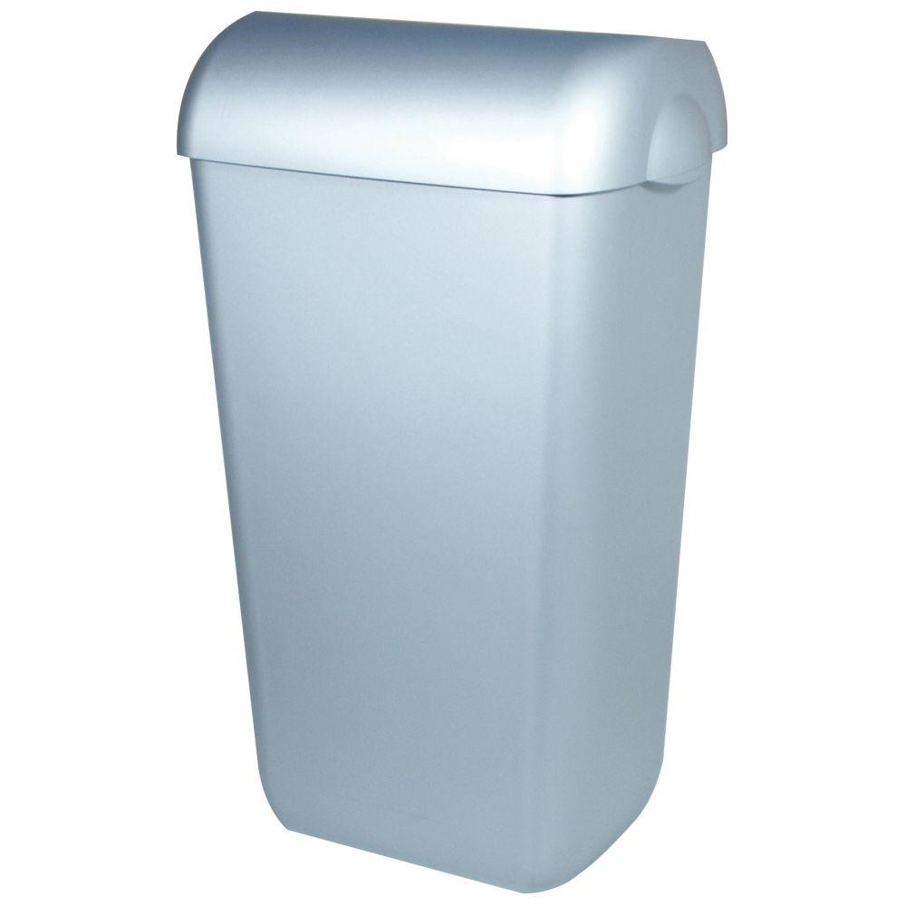 PlastiQline afvalbak RVS-look 23l PQA23M