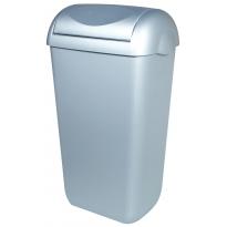 PlastiQline afvalbak RVS-look 23l met swing-deksel PQSA23M