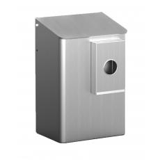 MediQo-line hygiënebak 6 liter aluminium + zakjeshouder plastic zakjes MQWB6HBKA