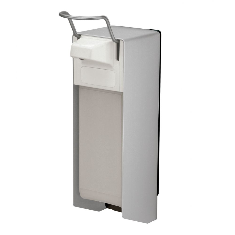 MediQo-line zeepdispenser aluminium 1000ml korte bedieningsbeugel MQ10A