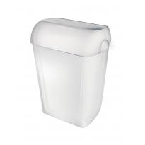 PlastiQline afvalbak met witte deksel 23l PQA23