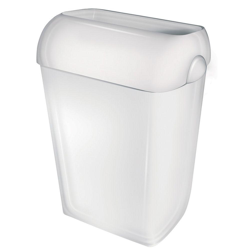 PlastiQline afvalbak met witte deksel 43l PQA43