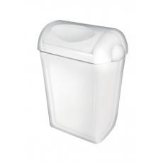 PlastiQline afvalbak met witte swing-deksel 23l PQSA23