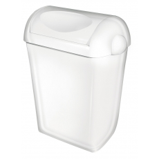 PlastiQline afvalbak wit met swing-deksel 43l PQSA43