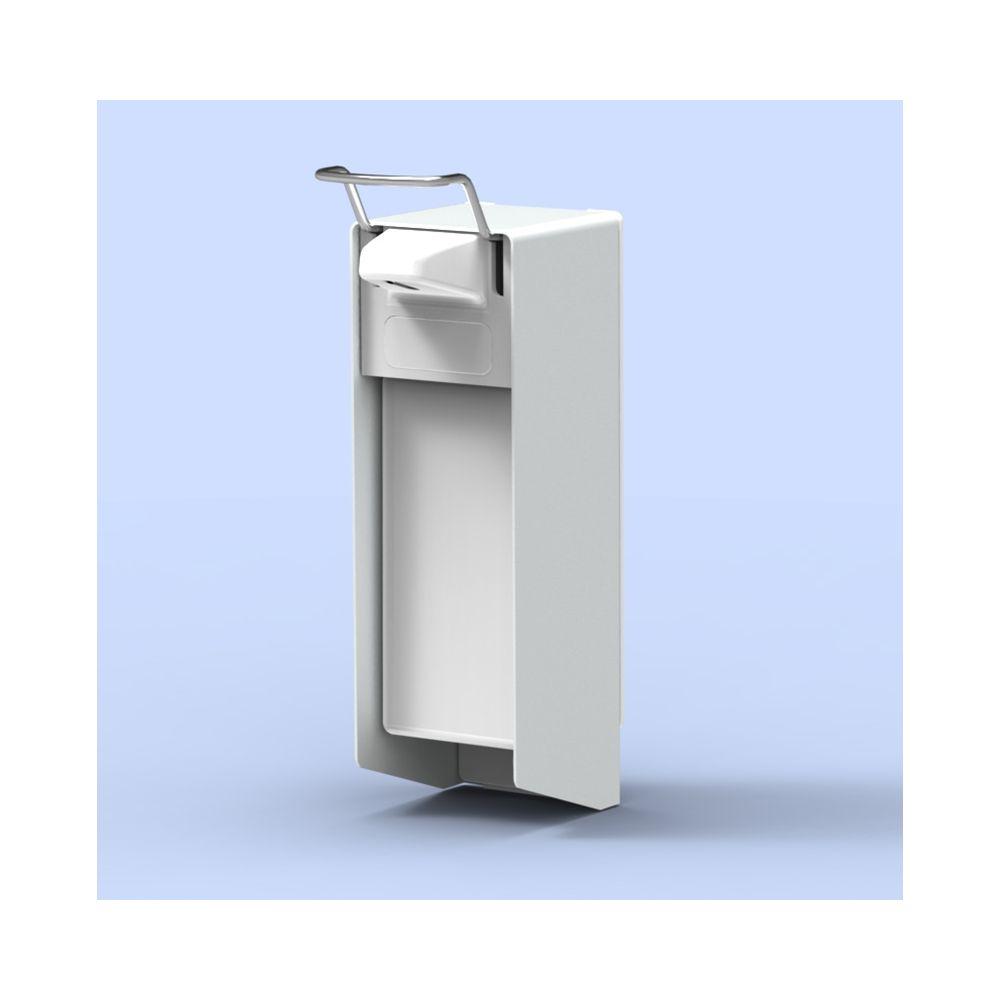 MediQo-line zeepdispenser wit 1000ml korte bedieningsbeugel MQ10P