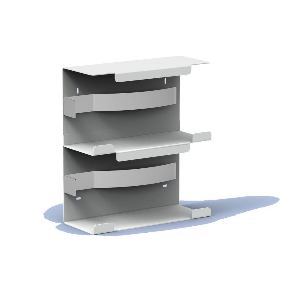 MediQo-line handschoendispenser duo aluminium MQDGDA