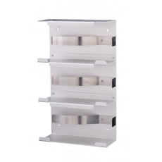 MediQo-line handschoendispenser trio aluminium MQTGDA