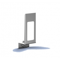 MediQo-line afsluitplaat RVS 500ml+venster MQLP05E