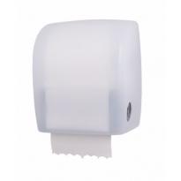 PlastiQline kunststof handdoekroldispenser transparant wit PQAutWT
